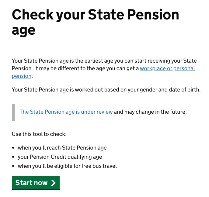 Check state pension website