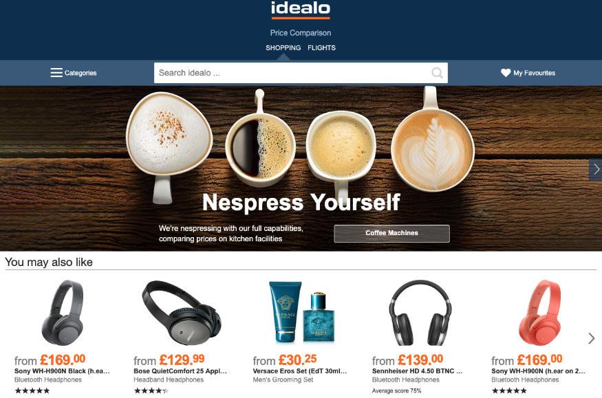 Strona główna serwisu Idealo