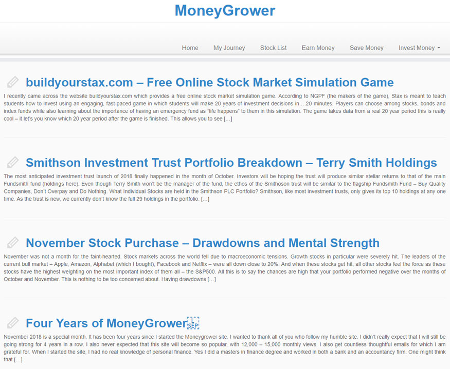 Money Grower Website