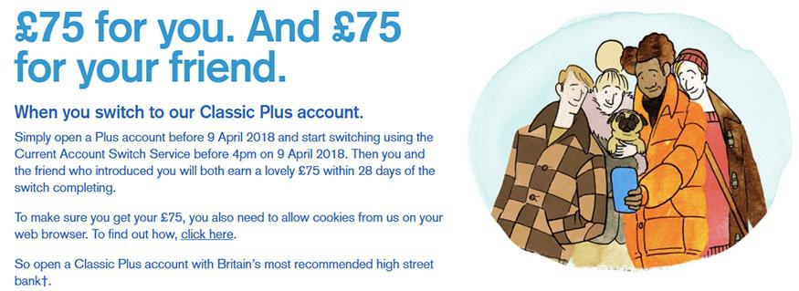 dobry rachunek bankowy 3% i bonus £75