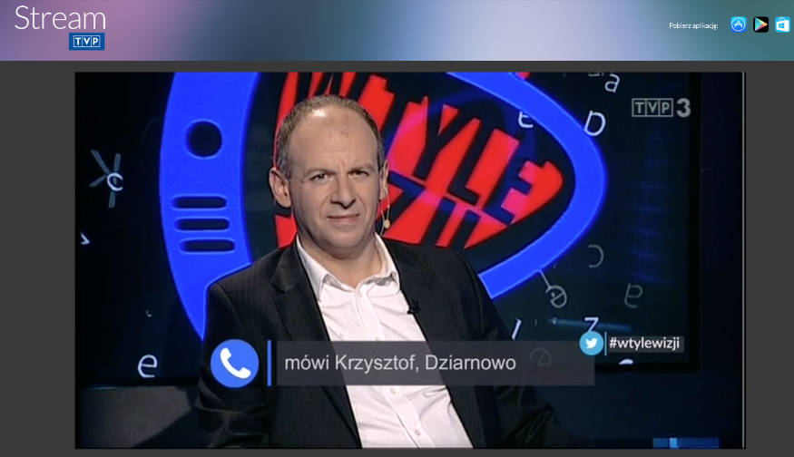 Screenshot z TVP Stream