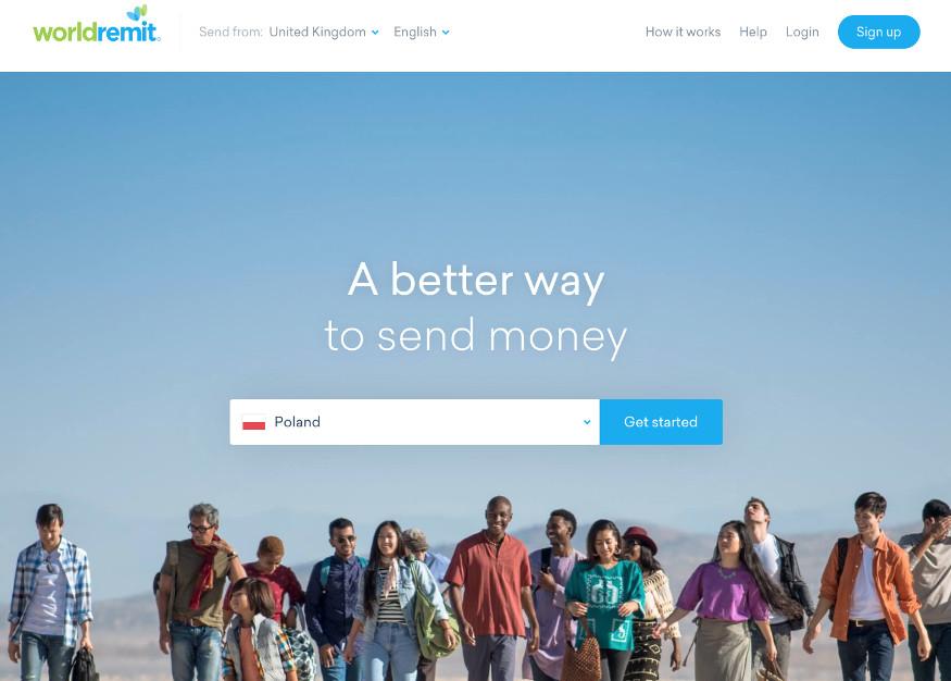WorldRemit Homepage screenshot