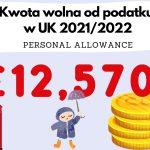 Kwota wolna od podatku w UK w tym roku podatkowym