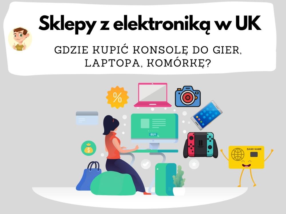 grafika przedstwiająca zakupy elektroniki w UK